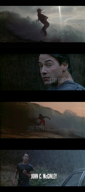 captures d'écran du générique de Point Break