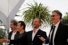 Gustave Kervern, Albert Dupontel, Benoït Poelvoorde et Benoît Delépine à Cannes (Photo Christian Delvoye)