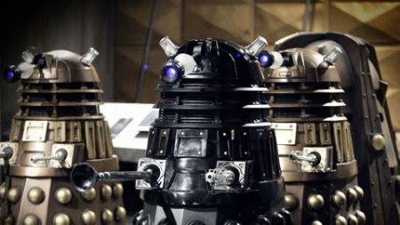 Les Daleks, ennemis héréditaires des Seigneurs du Temps et du Docteur en particulier.